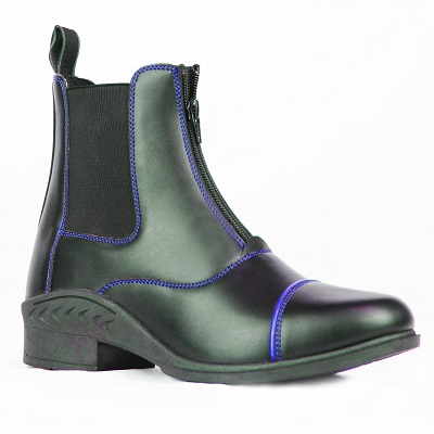 Gallop Venture Kids Blue Piped Black Paddock Boot
