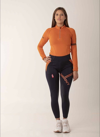 Chillout Extreme Silicone Tights - Navy and Orange