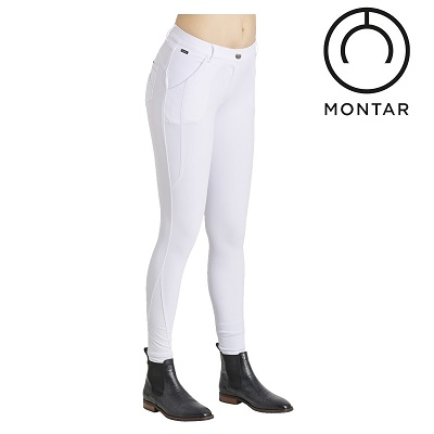 Montar Ladies Sadie Fullgrip White Stone Breech